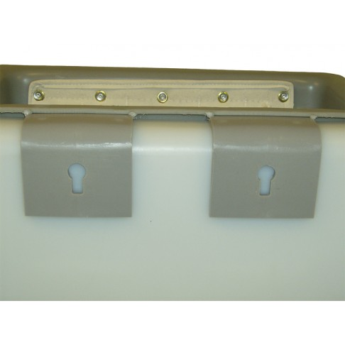 """1TB-K Tool Tray with Auxiliary Mount Brackets,  19 x8 x 8"""", Outside Mount, Gray"""