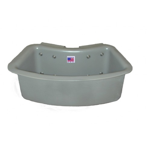 """1TB-RA Tool Tray, Curved, 19 x 8 x 8"""", Outside Mount, Gray"""