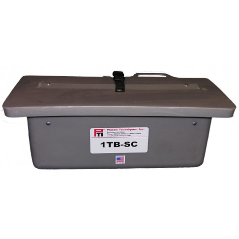 "1TB-SC Tool Tray with Slide-On Cover, 19 x 8 x 8"", Outside Mount, Gray"