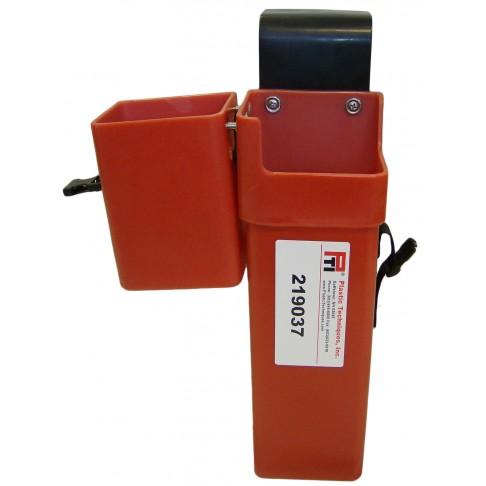 "219037 Patriot® In-Line Tool Holder, Copolymer, 17.5"" Deep, Inside Mount, Red"