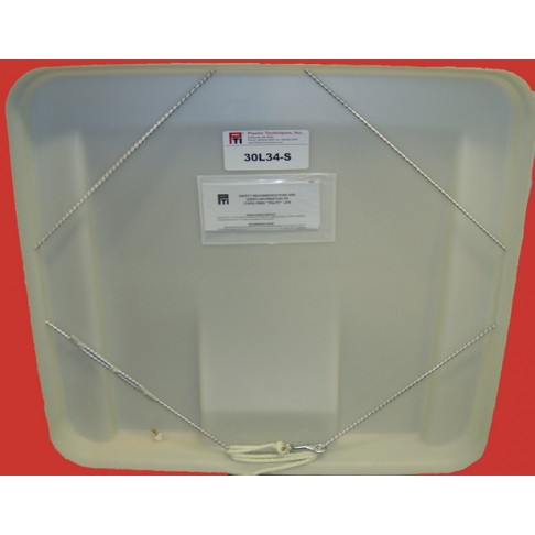30L34-S Hard Covers-Lid with Shock Cord, 34 x 30""