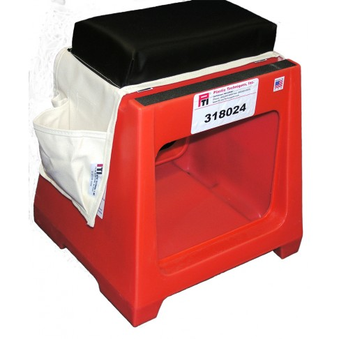 "318024 Splicer Seat-Tool Box with Two 9.5 x 12"" Tool Openings, Step, Seat and Cushion"