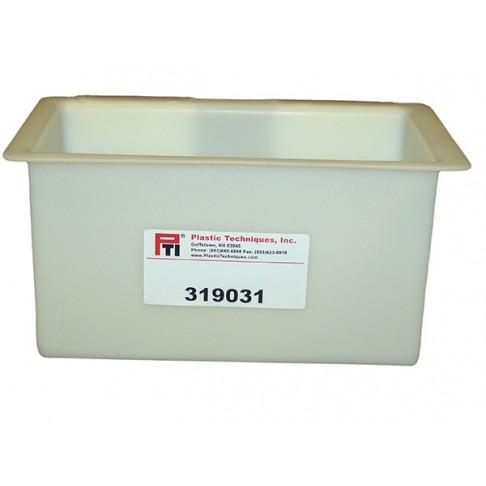 """319031 Tool Tray, 14.25 x 6.5 x 8"""", Outside Mount, White"""