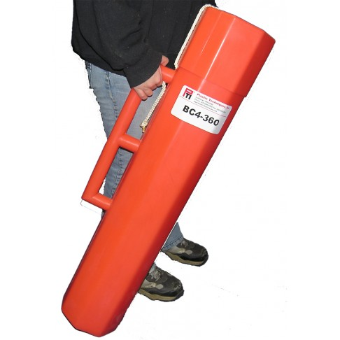 "BC4-36O Blanket Canister, 36""L x 7"", Orange, Octagon"