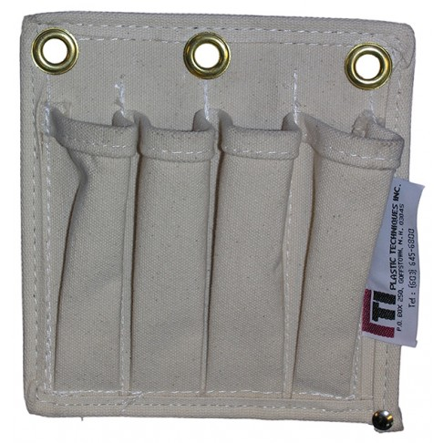 TP-4 Tool Tray Tool Pouch, Canvas, 4 Pockets