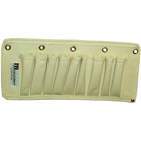 TP-9 Tool Tray Tool Pouch, Canvas, 9 Pockets